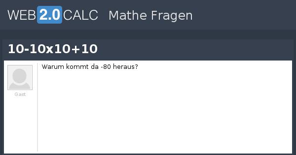 Frage anzeigen 10 10x10 10 for 10 x 10 x 10