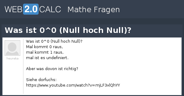Was Ist Null / Null